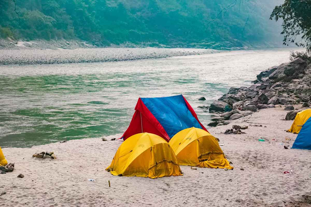 triveni camping at teesta river