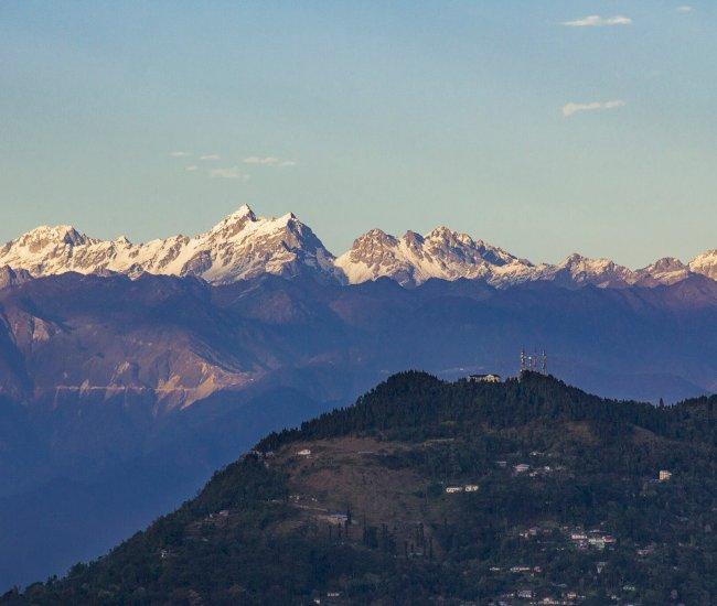 Kanchanjunga view from Kalimpong